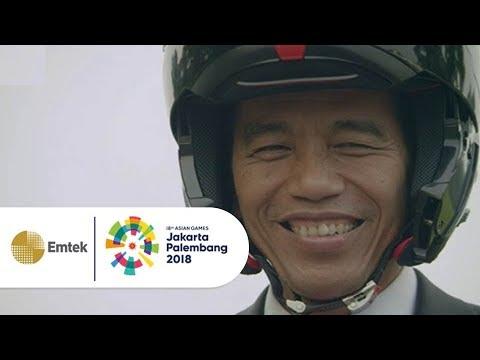 Aksi Keren Presiden Joko Widodo Meriahkan Opening Ceremony Asian Games 2018