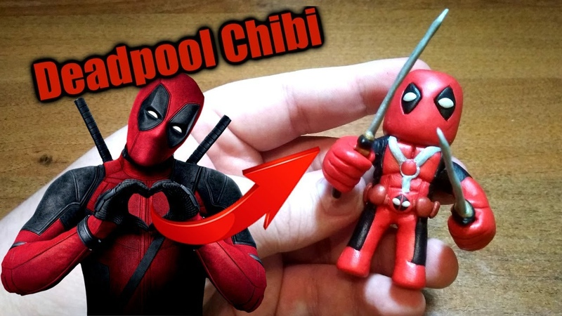 Дэдпул Чиби из пластилина | Deadpool Chibi