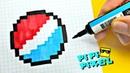 PEPSI ПО КЛЕТОЧКАМ легко нарисовать ! PIXEL ART !HOW TO DRAW Рисунки по Клеточкам