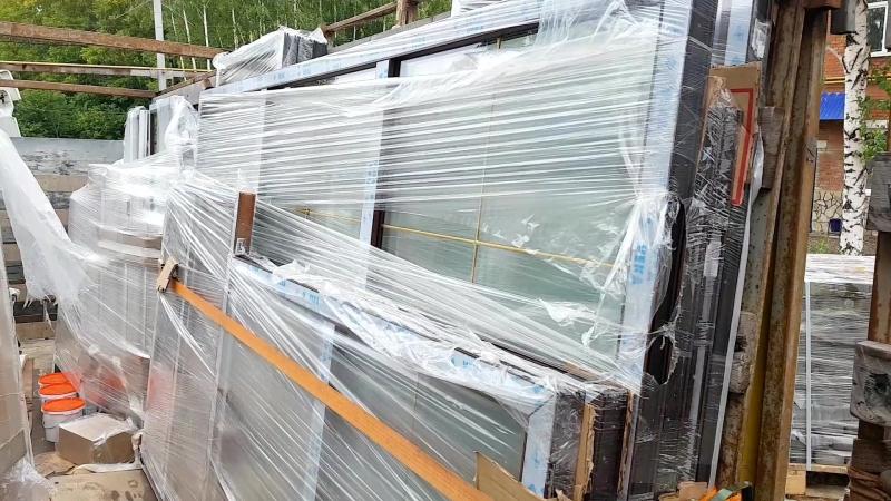 Разгрузка большегруза с пластиковыми окнами Стерлитамак Сентябрь 2018