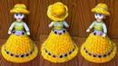 ऊन से गुड़िया सजाने का आसान तरीका /DIY DOLL DECORATION /OON KI GUDIYA/WOOLEN DOLL DECOR