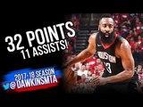 James Harden Full Highlights 2018 WCSF Game 2 Utah Jazz vs Houston Rockets - 32-11-7! FreeDawkins