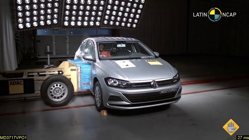 Volkswagen Polo Mk6 crash test 4 Airbags