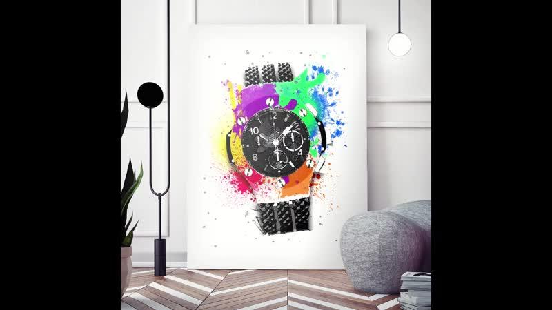 Hublot Pop Art - Canvas Wall Art