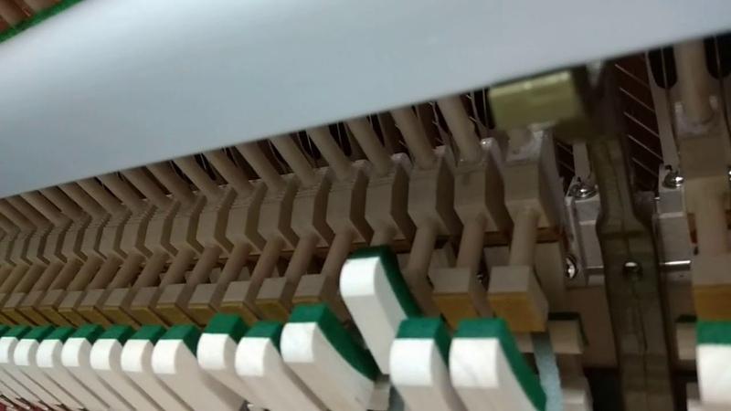 Регулировка клавиатуры и механики пианино Gebr. Schultz