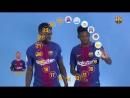 FC Barcelona эмоджи от Дембеле и Умтити