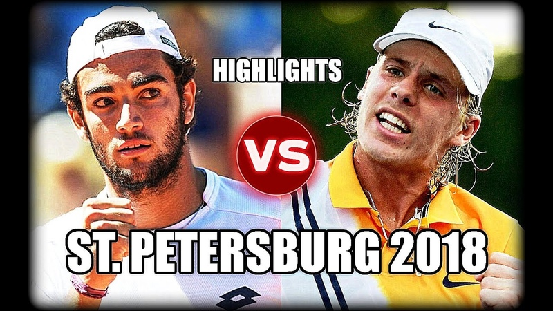 Denis Shapovalov vs Matteo Berrettini ST. PETERSBURG 2018 Highlights