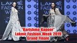 Karishma Kapoor Stunning Ramp Walk At Lakme Fashion Week 2019 Grand Finale
