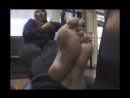 31 year old women candid very very huge feet size 11 US