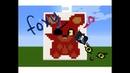 Майнкрафт Пиксель арт Фнаф Плюшевый Фокси / Minecraft Pixel art Fnaf Plush Foxy
