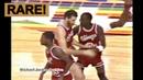 Rookie Michael Jordan Amazing Move on Calvin Natt Don't Try to Block Me 1984 RARE
