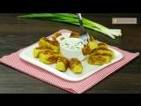 Картофельные котлеты с зеленым луком в духовке!
