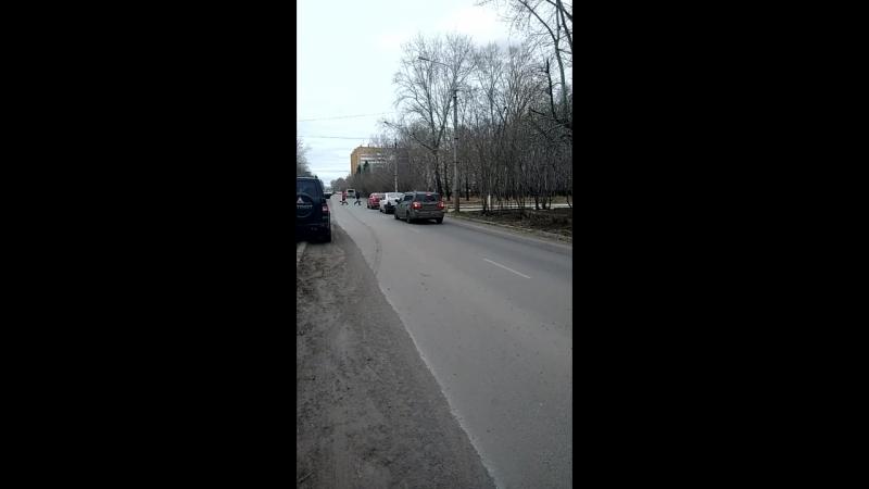 Пробка в Чввакуше из за работы