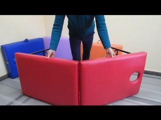 Как легко и просто можно разложить и сложить массажный стол / кушетку.