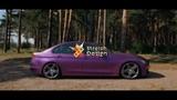 BMW 3-series F30 Purple Matte Satin Chrome
