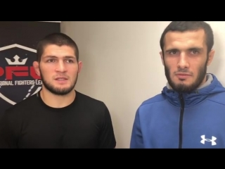 Интервью Хабиба Нурмагомедова и Ислама Мамедова перед турниром PFL.
