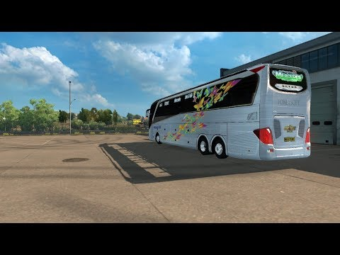 Ets2 mods Mercedes Setra 517 HDH 2018 bus Skin logo 2018 for 1 31 xx