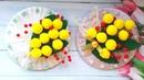 Подарочный магнит с мимозой из старого диска, мк/Gift magnet with mimosa