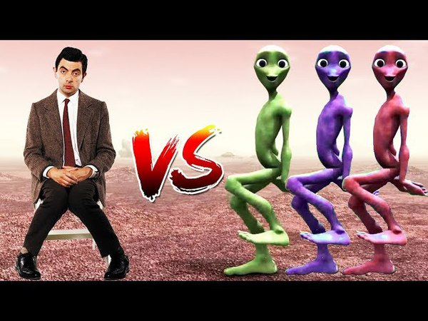 Dame Tu Cosita Dance Challenge - Learning Color Alien vs Mr Bean | Dance Musically Compilation