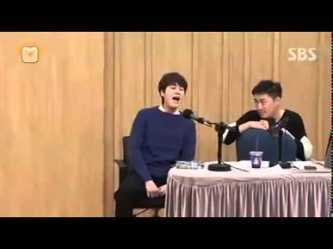 Kyuhyun singing a little from his musical The Days 141124