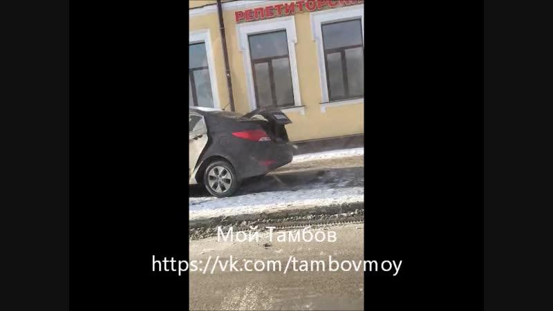 ДТП угол ул. Советской/Октябрьской в Тамбове