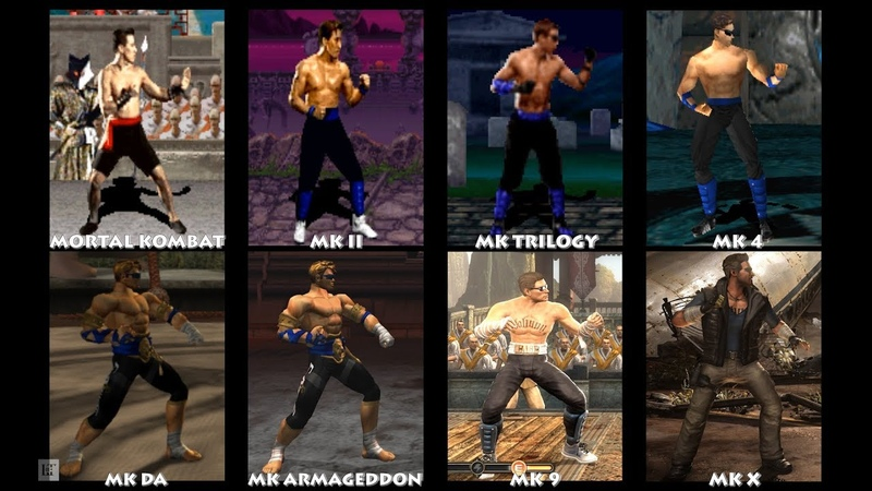 Mortal Kombat JOHNNY CAGE Graphic Evolution 1992-2015 | ARCADE PSX PS2 XBOX PC | PC ULTRA