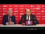 El presidente confirma la continuidad de Montella como entrenador. 240418. Sevilla FC