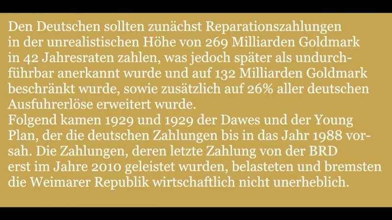 Das Versailler Diktat Versailler Friedensvertrag Knechtschaft für das deutsche Volk смотреть онлайн без регистрации
