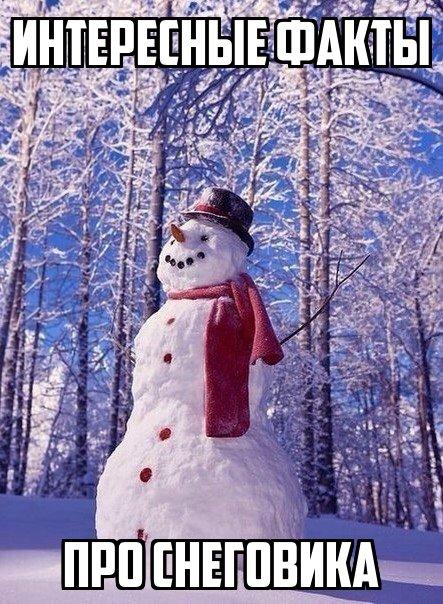 Интересные факты про снеговика