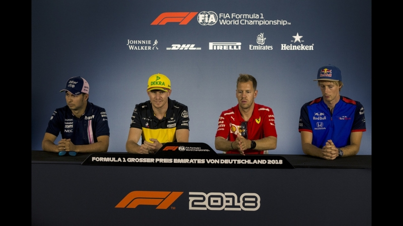 2018 Germany - Drivers Press Conference