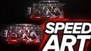 Kossman x Faint Design - Banner SPEED ART   Cinema4D and Photoshop