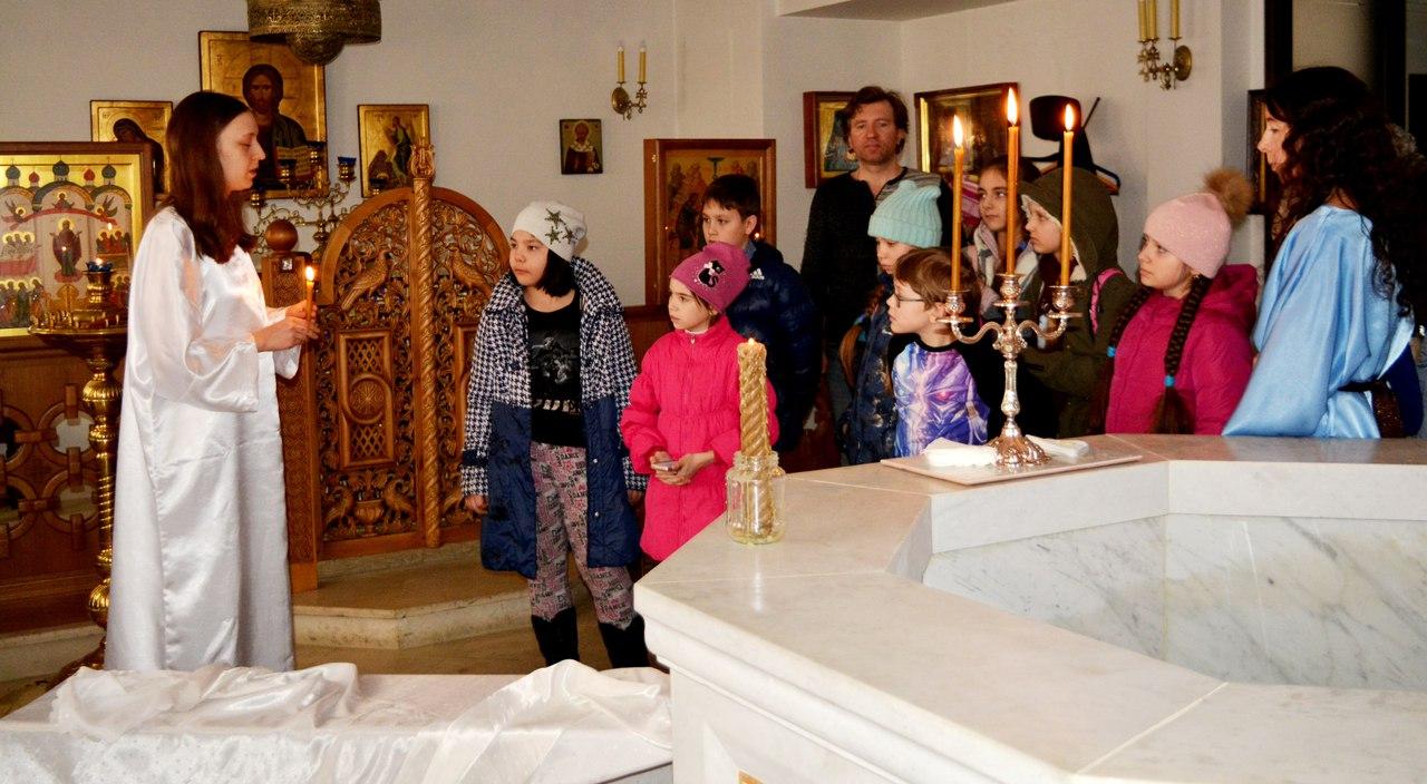 пасхальный квест в храме для воспитанников Московии
