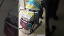 Санки коляска Ника 7 3 Скандинавский бирюзовый