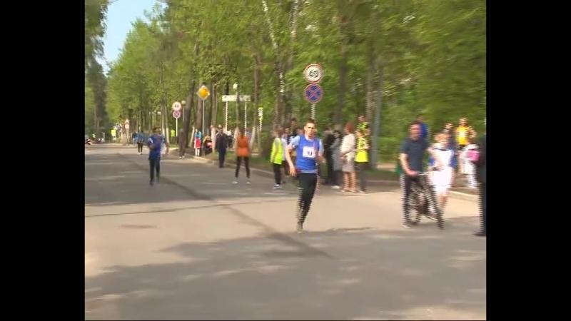 Серпуховские спасатели приняли участие в легкоатлетической эстафете посвященной празднованию 73-й годовщины Победы в Великой От