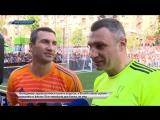 Братья Кличко стали футболистами и тренерами команды Андрея Шевченко