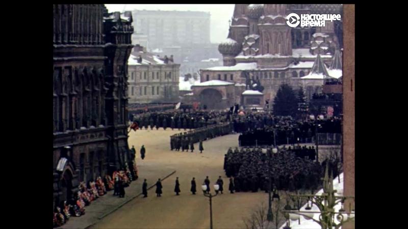 Потерянное видео похорон Сталина, снятое из посольства США