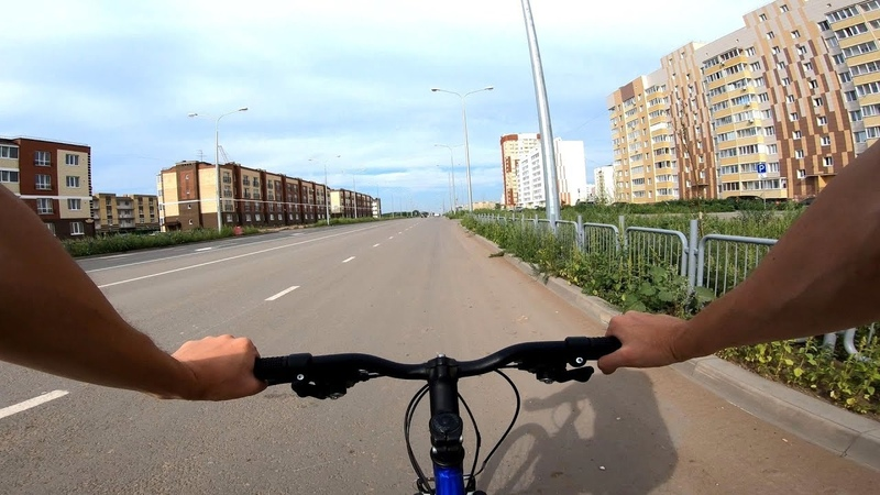 Велопрогулка по городу Ульяновск. На велосипеде по каменным джунглям. 25 июля 2018