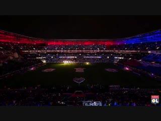 Un joli time-lapse du show davant-match olpsg - cc @thedigitalfly