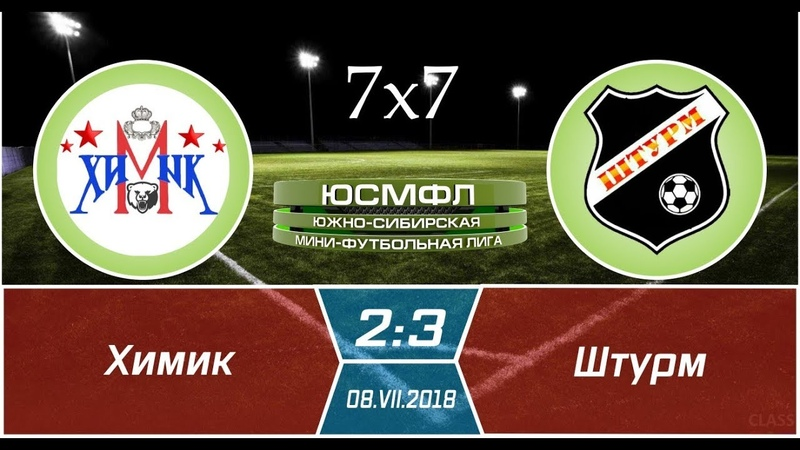 Летний чемпионат ЮСМФЛ 7х7 2018 Химик Штурм 2 3 08 07 2018 Обзор