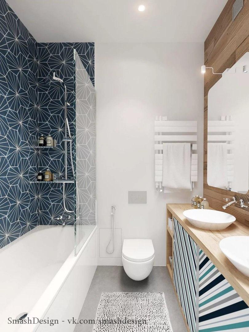 Скандинавский стиль в ванных комнатах и санузлах