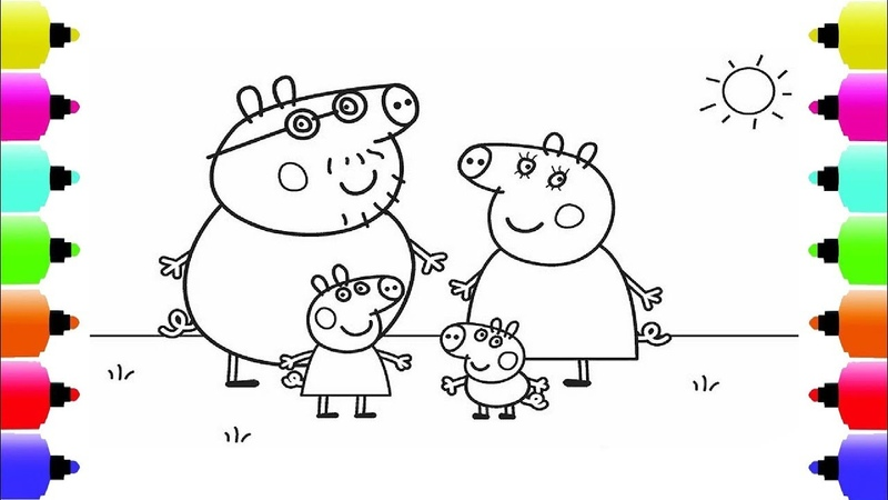 Peppa's Paintbox Peppa Pig Family Coloring Pages Cartoon Episodes 3 PeppaPig