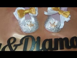 очаровательные пинеточки инкрустированны стразами crystal с бантиками и золотыми коробками. от мастера инкрустации Елизавета Кюр