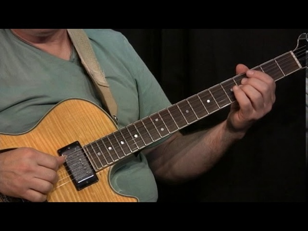 Solo jazz guitar lesson - how to play bebop lines - chord substitutions - walking bass and more!