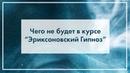 Чего не будет в курсе Эриксоновский гипноз Виктор Стрелкин