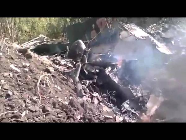 Ополчение Донбасса. Ополченцы подстрелили штурмовик ВВС Украины 3 августа 2014 грда.