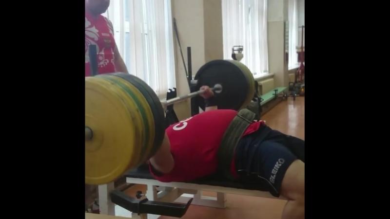 Павел Колохин - жим лежа 220 кг