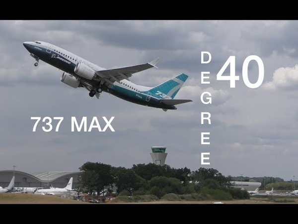 Yes ! Its 40 Degree pitch takeoff Boeing 737 MAX pushing the limits
