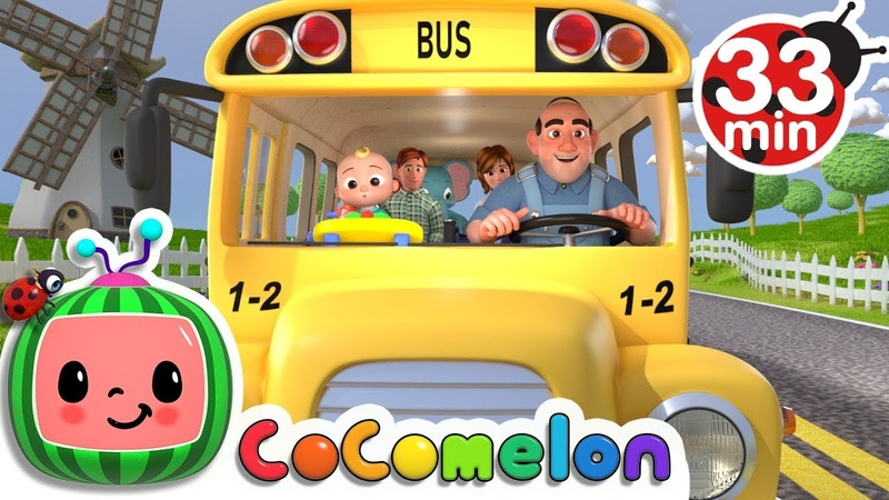 Wheels on the Bus | More Nursery Rhymes Kids Songs - Cocomelon (ABCkidTV)