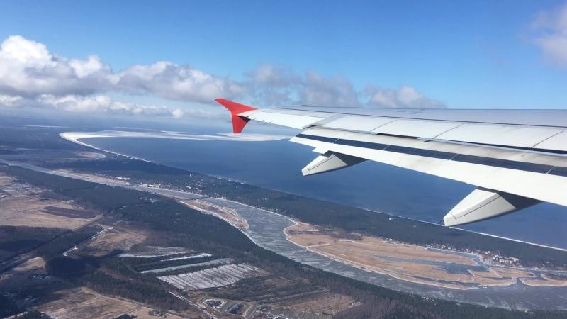 Вот такой он Рижский залив с высоты птичьего полета. Фотокарточки на подлете.