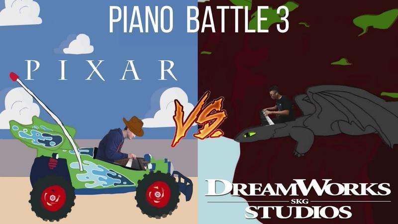 PIXAR vs. DREAMWORKS - Piano Battle 3 (Mashup/Medley) [ft. Samuel Fu]